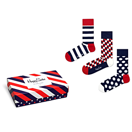 CALZINI HAPPY SOCKS STRIPE GIFT BOX 3-PACK XSTR08