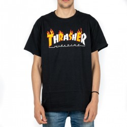 T-SHIRT THRASHER FLAME MAGAZINE 1445667