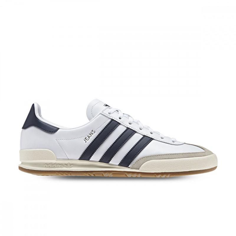 Adidas Jeans BD7683 bianco scarpe uomo in pelle
