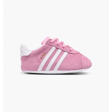 00a8b36e2a9 Adidas Gazelle Crib CG6542 rosa scarpe da neonato scamosciate