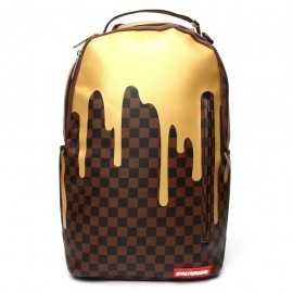 SPRAYGROUND gold ckered